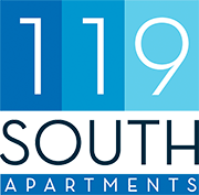 119 South Apartments Logo, Footer ,Link to Home